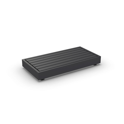 Bari Lounge Base 2-Seat Alu Charcoal Mat