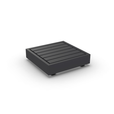 Bari Lounge Base 1-Seat Alu Charcoal Mat