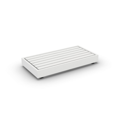 Bari Lounge Base 2-Seat Alu White Mat