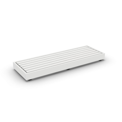 Bari Lounge Base 3-Seat Alu White Mat