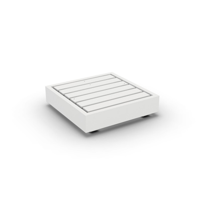 Bari Lounge Base 1-Seat Alu White Mat