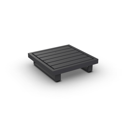 Fano Lounge Base 1-Seat Alu Charcoal Mat