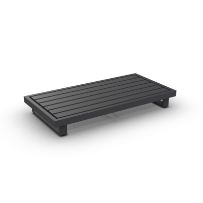 Fano Lounge Base 2-Seat Alu Charcoal Mat