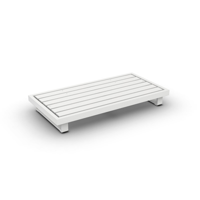 Fano Lounge Base 2-Seat Alu White Mat