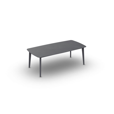 Ritz Alu Coffee Table Alu Charcoal Mat 120X60