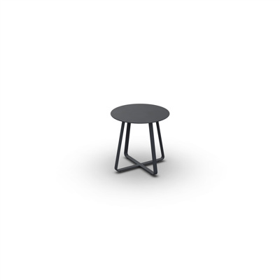 Elko Side Table Alu Charcoal Mat D45