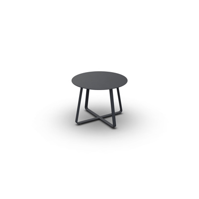 Elko Side Table Alu Charcoal Mat D60