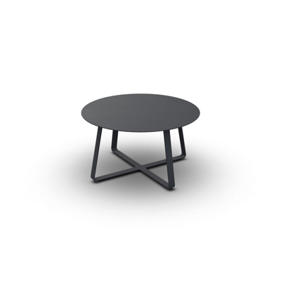 Elko Side Table Alu Charcoal Mat Alu D90