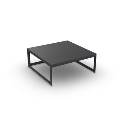 Burford Coffee Table Alu Charcoal Mat 90X90