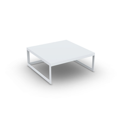 Burford Coffee Table Alu White Mat 90X90