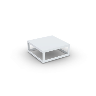Burford Coffee Table Alu White Mat 70X70