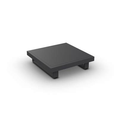 Fano Coffee Table Alu Charcoal Mat 90X90