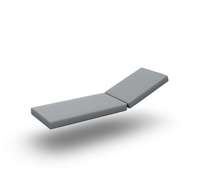 Bari Cushion Sunlounger Single 2 Parts Sunbrella Grey Chine