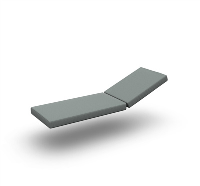 Bari Cushion Sunlounger Single 2 Parts Exteria Smoke