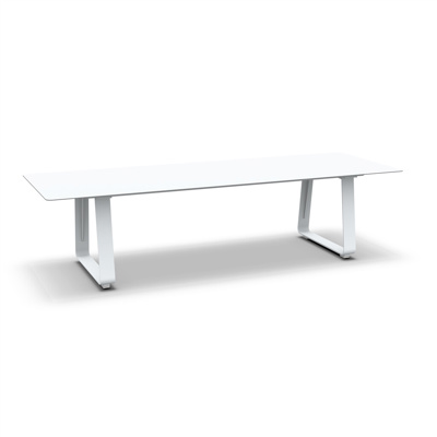 Elko Dining Table Alu White Mat Alu White Mat 300X105