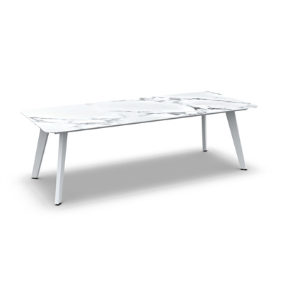Ritz Alu Dining Table Alu White Mat Ceramic Graduario 240X100