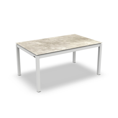 Lugo Dining Table Alu White Mat HPL Grigio Granite/Nero Granite Switch 160X90