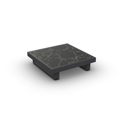 Fano Coffee Table Alu Charcoal Mat Ceramic Dark Marble 90X90