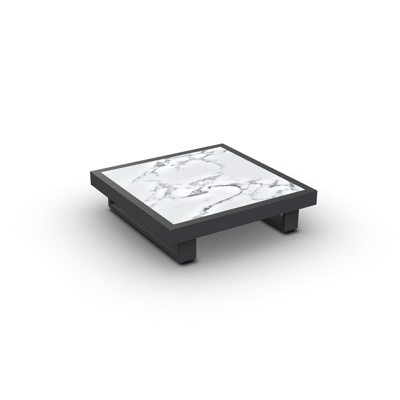 Fano Coffee Table Alu Charcoal Mat Ceramic Graduario 90X90
