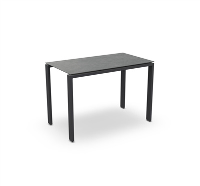 Arolla Bar Table Alu Charcoal Mat Ceramic Cement Grey 160X90