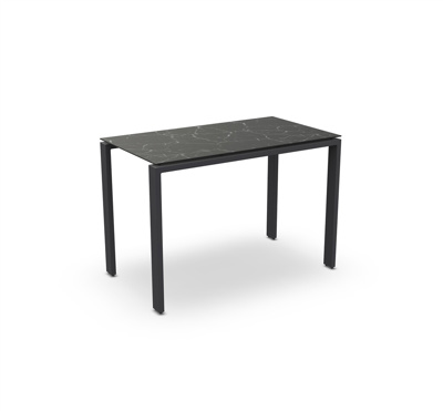 Arolla Bar Table Alu Charcoal Mat Ceramic Dark Marble 160X90