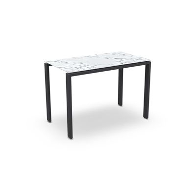 Arolla Bar Table Alu Charcoal Mat Ceramic 160X90
