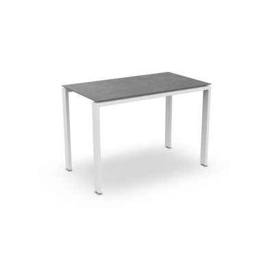 Arolla Bar Table Alu White Mat Ceramic Cement Grey 160X90