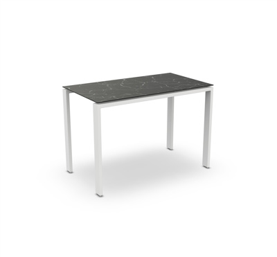 Arolla Bar Table Alu White Mat Ceramic Dark Marble 160X90